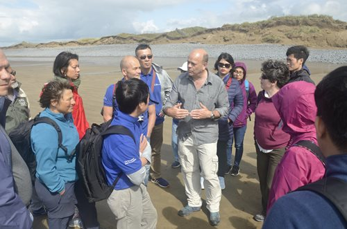 Andrew Bell, UNESCO World Biosphere Reserve Co-ordinator, gives a talk on Northam Burrows beach