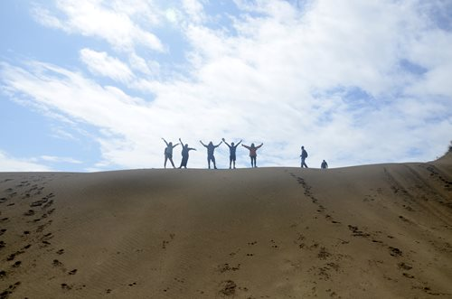 Some of the ECRN exploring the sand dunes during a field trip to the UNESCO North Devon Biosphere Reserve